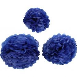 CC POMPON HARTIE 590004D: 20+24+30 cm, 16 g, dark blue, 3pcs