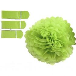 CC POMPON HARTIE 590007 D: 20+24+30 cm, 16 g, lime green, 3pcs