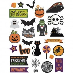 Cc Accesorii Decor Halloween 2-10cm 24/set 27078