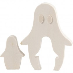 Cc Decoratiune Lemn Fantoma Halloween 6*11.5cm 56155
