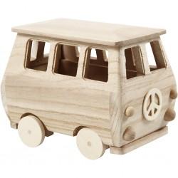 Cc Minibus Lemn 17*10*13cm 56113