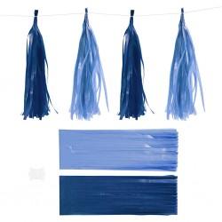 CC POMPON HARTIE MATASE 12*35 CM 12/SET 599804 DARK BLUE/LIGHT BLUE