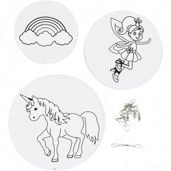 CC ORNAMENT UNICORN 9/SET ASSORTED 25459