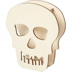 Cc Craniu Lemn Halloween 13.5*11.5cm 54415