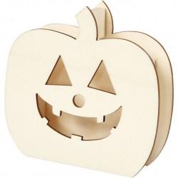 Cc Dovleac Lemn Halloween 13*13.5cm 54416