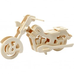CC FIGURINA LEMN 3D MOTOCICLETA 19x9x9 cm 580504