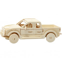 Cc Figurina Lemn 3d Camioneta 19,5x8x12 Cm 580505