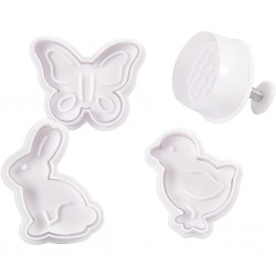 CC FORME PLASTIC CU STAMPILA Cookie Cutters With Stamp, PASTE 4/SET 782872