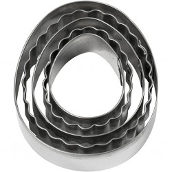 CC FORME METAL Cookie Cutters Egg, 8cm 5/SET 782884