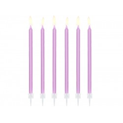 PD LUMANARI TORT light liliac, 14cm 12/set SCD-2-004J