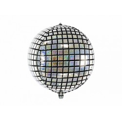 PD BALON FOLIE ALUMINIU Disco Ball, holographic foil, 40cm FB36