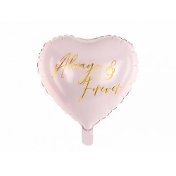 PD BALON FOLIE ALUMINIU Heart, 45cm, light pink FB57-081J