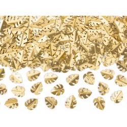 PD CONFETTI, Metallic confetti Leafs, gold, 15g KONS8-019M