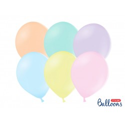 PD BALOANE Strong Balloons 27cm, Pastel Mix, 10/SET SB12P-000P-10