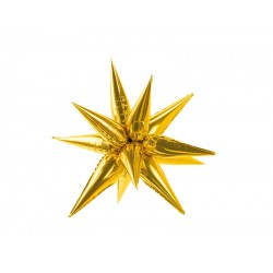 Pd Balon Folie Aluminiu Star 3d, 70cm, Gold Fb68m-019