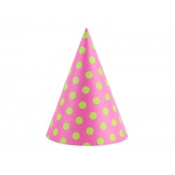 PD COIF DIN CARTON Dots, dark pink, 16cm 6/set CPP26-006