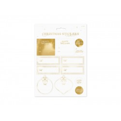 Pd Sticker Decor Christmas, Gold, Mix Np3