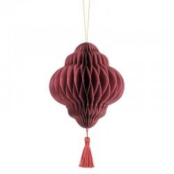 Pd Ornament Suspendat Hartie, Lantern, Deep Red, 12 X 15cm Bp2-15-082