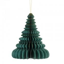 Pd Ornament Suspendat Hartie, Christmas Tree, Botle Green, 15cm Bp3-15-012b