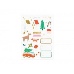 Pd Sticker Decor Christmas, Winter Forest, Mix Np6