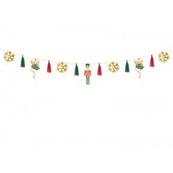Pd Ghirlanda Hartie Christmas, Nutcracker Mix, 2m Gl28
