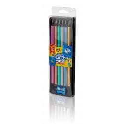 As Creioane Colorate 6/set Jumbo + Ascutitoare Astra Triunghiulare 312118007