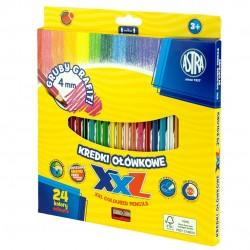 As Creioane Colorate 24/set Hexagonale + Ascutitoare Astra 312120004