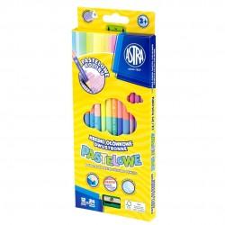 As Creioane Colorate Pastel 12/set 2 Capete + Ascutitoare Astra 312120003
