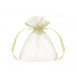 PD SAC ORGANZA, Organza pouches, cream, 10cm 20/SET WRG5-079
