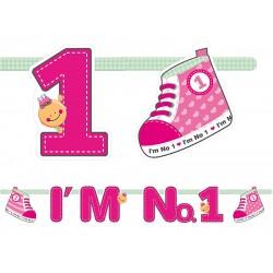 Pd Banner I'm No. 1, Pink, 110cm Grl10-r