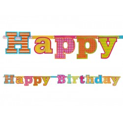 Pd Banner Happy Birthday,16 X 166cm Grl13