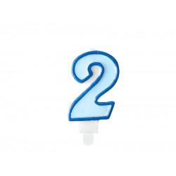 Pd Lumanari Tort Number 2, Blue, 7cm Scu1-2-001