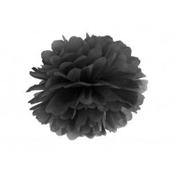 Pd Pompom Hartie Matase, Tissue Paper Pompom, Black, 25cm Pp25-010