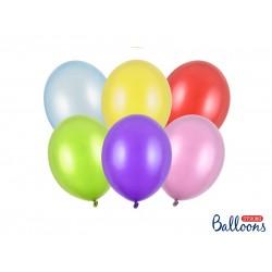 PD BALOANE Strong Balloons 23cm, Metallic Mix, 100/SET SB10M-000