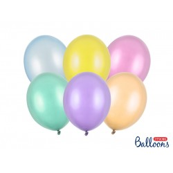 PD BALOANE Strong Balloons 23cm, Pearly Mix, 100/SET SB12M-000P