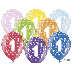 PD BALOANE Balloons 30cm, Birthday, Metallic Mix 6/SET SB14M-001-000-6