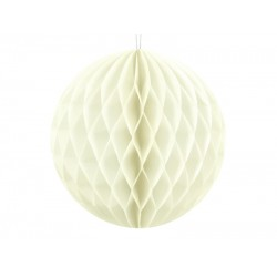 PD ORNAMENT SUSPENDAT HARTIE, Honeycomb Ball, light cream, 10cm KB10-079J
