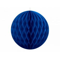 PD ORNAMENT SUSPENDAT HARTIE, Honeycomb Ball, navy blue, 10cm KB10-074