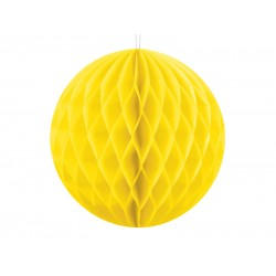 PD ORNAMENT SUSPENDAT HARTIE, Honeycomb Ball, galben, 10cm KB10-084