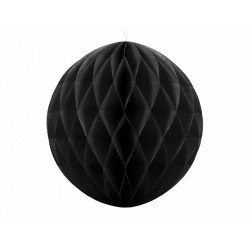 PD ORNAMENT SUSPENDAT HARTIE, Honeycomb Ball, negru, 20cm KB20-010