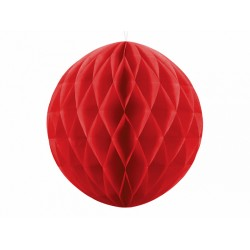PD ORNAMENT SUSPENDAT HARTIE, Honeycomb Ball, rosu, 30cm KB30-007