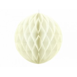PD ORNAMENT SUSPENDAT HARTIE, Honeycomb Ball, light cream, 30cm KB30-079J