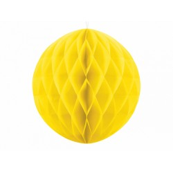 PD ORNAMENT SUSPENDAT HARTIE, Honeycomb Ball, galben, 30cm KB30-084