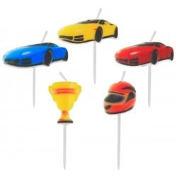 God Lumanari Tort Car Racing, 7.5cm, 5/set Pf-spws