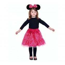 God Costum Pt Copii Pink Mouse, 90-120 Cm, Skirt, Headband Zerm-ob
