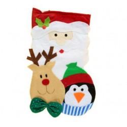 God Decoratiune Craciun Soseta Santa And Reindeer, 42*20cm Nw-skmr
