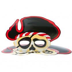 God Masca Pirate Captain 26*19cm 6/set Pf-mkor