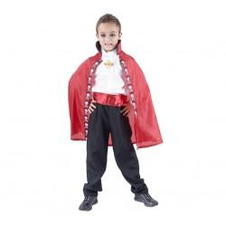 God Costum Pt Copii Vampire 120/130cm, Cape, Tie Stwam-lu120