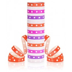God Cordon Hartie Streamer Pink-red Dots And Stripes, 4m Pf-sgprc