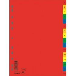 OVM SEPARATOARE INDEX PLASTIC A-Z DONAU COLOR 7726095pl-99